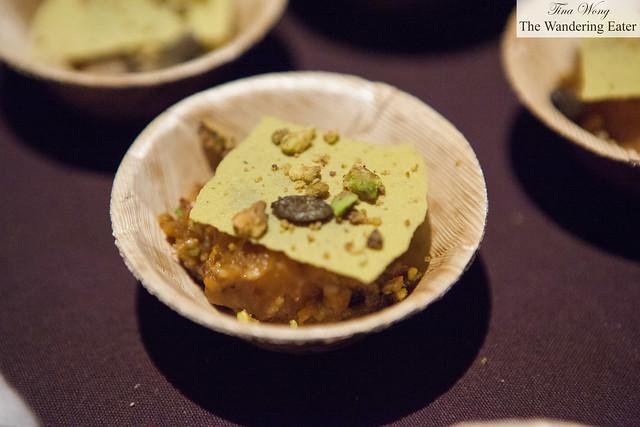 Squash, pistachio & truffle by Piora