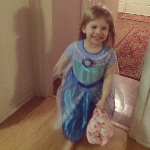 Sometimes you need to put an Elsa costume over your PJs. It happens.