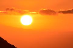 Sunset over the island of El Hierro - Puesta de sol sobre El Hierro