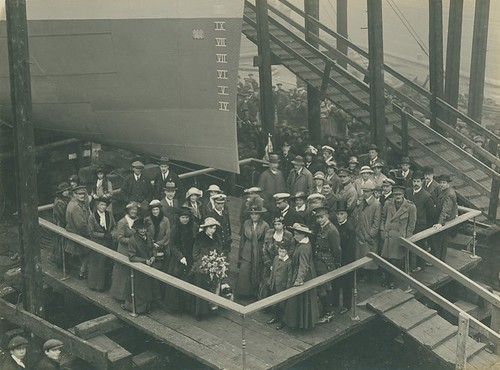 Launch party of HMS Starfish