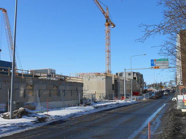 Hämeenlinnan moottoritiekate ja Goodman-kauppakeskus: Työmaatilanne 17.3.2013 - kuva 2
