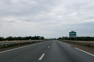 Sur la N31 en direction de Paris