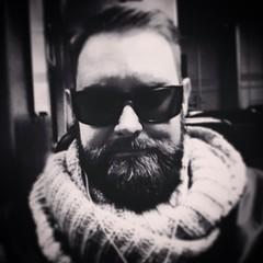 #beard #sunglasses #selfie #nickleus #scarf #bw #asker #norway #artist #musician