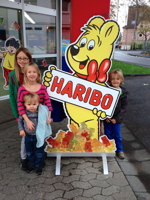 At the haribo factory outlet store!
