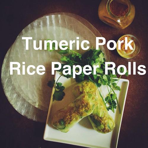 Tumeric rice paper rolls