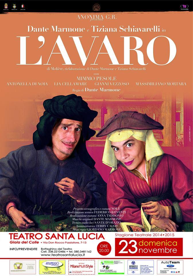 Dante Mormone e Tiziana Schiavarelli in l'avaro