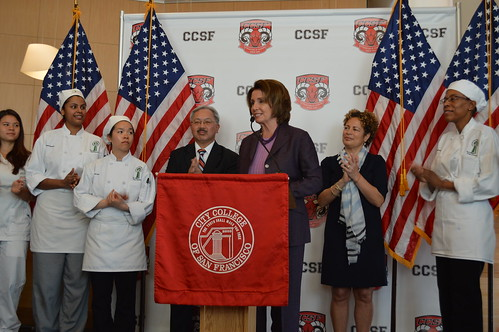Congresswoman Pelosi discusses College Affordability on the first day of Summer Enrollment at CCSF