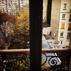 The view outside our window in the #14thArrondissement in #Paris. We're 5 floors up with no elevator. Getting in the exercise every day, but it's a gorgeous view.