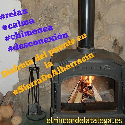 #relax #calma #chimenea #desconexión disfruta del puente en la #SierraDeAlbarracín