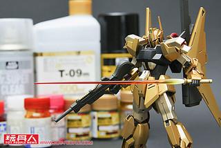 蛻變的黃金之風 HGUC 200號 百式 金屬上色範例