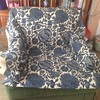 Hmmm? Mixed with solid blue velvet cushion to break up the pattern? #reupholsteryideas #blues