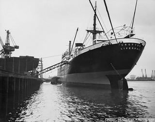 The cargo ship Crofter at Readhead's jetty