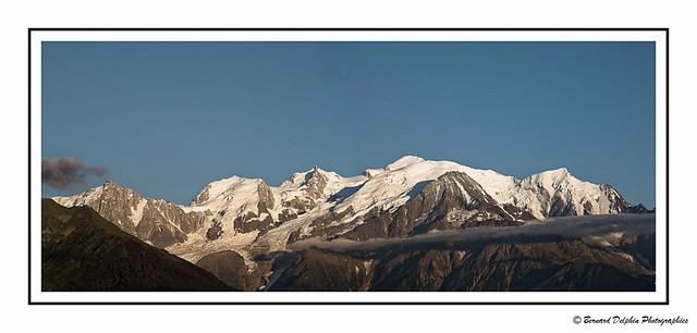 Le Mont Blanc vu du plateau d'Assy