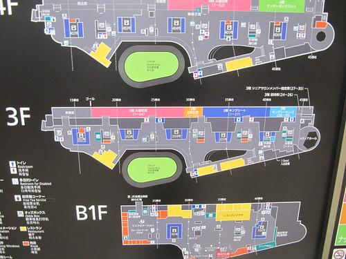中山競馬場の3階指定席のフロアマップ