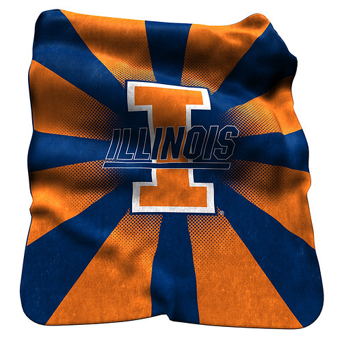 Illinois Fighting Illini NCAA Raschel Blanket