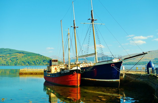 Boats on Loch Fyne, Inveraray, Scotland