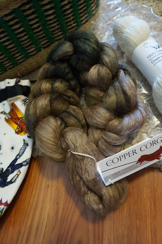 Alpaca/silk fiber from Copper Corgi