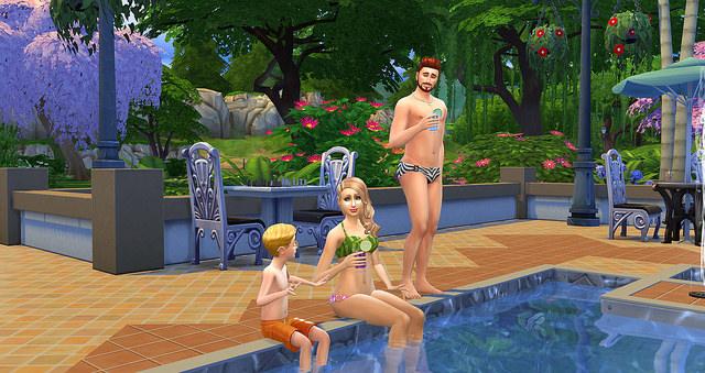 The Sims 4 pool swim suit 5