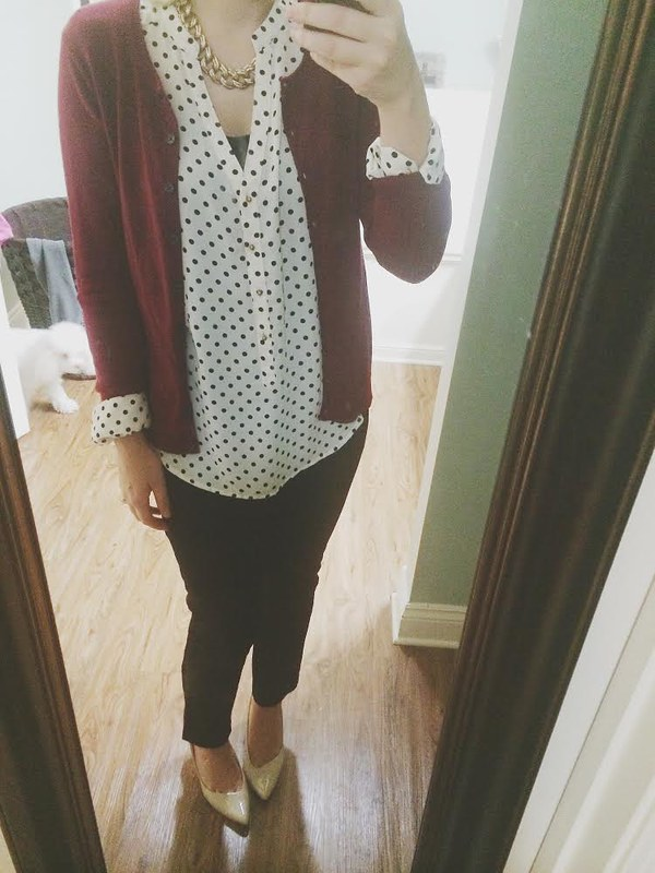 polka dots work outfit