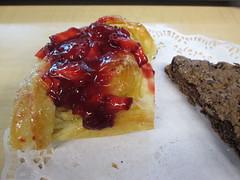 strawberry danish & brownie
