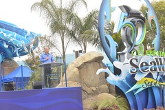 John Reilly speaks at SeaWorld's 50th Anniversary Celebration in March