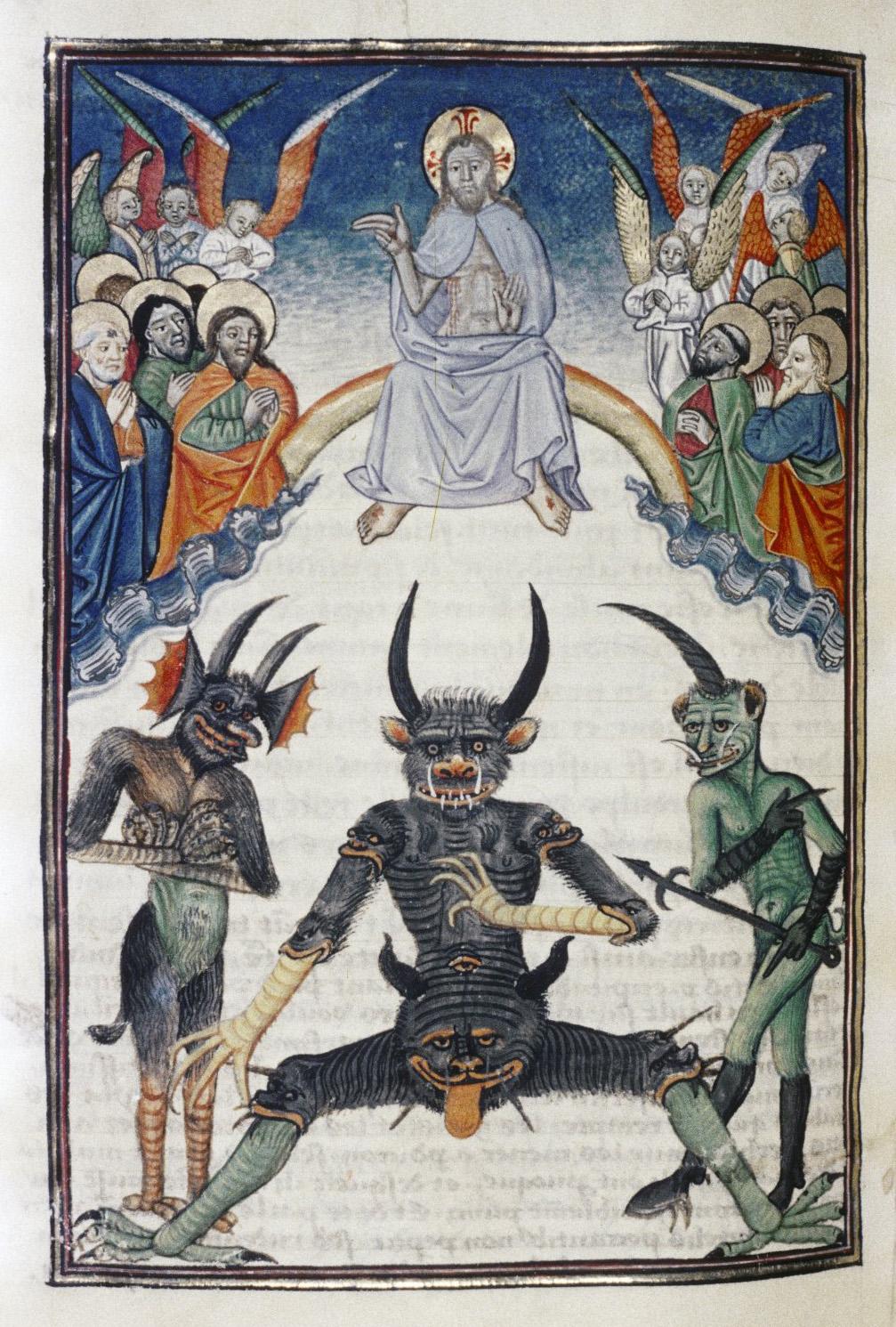 Demons From The Livre de la vigne nostre Seigneur, 1450 - 70 (3)