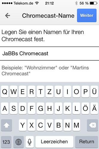 16 - Google Chromecast - Namen festlegen