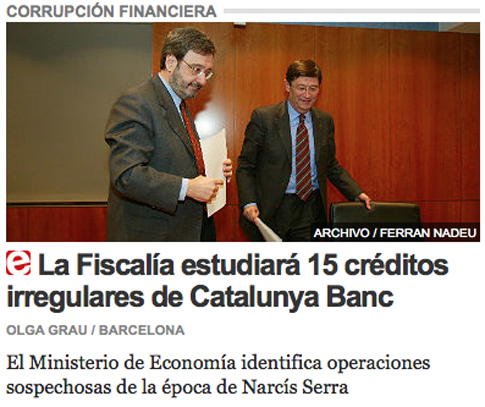 14k09 EPeriódico Créditos irregulares Catalunya Bank