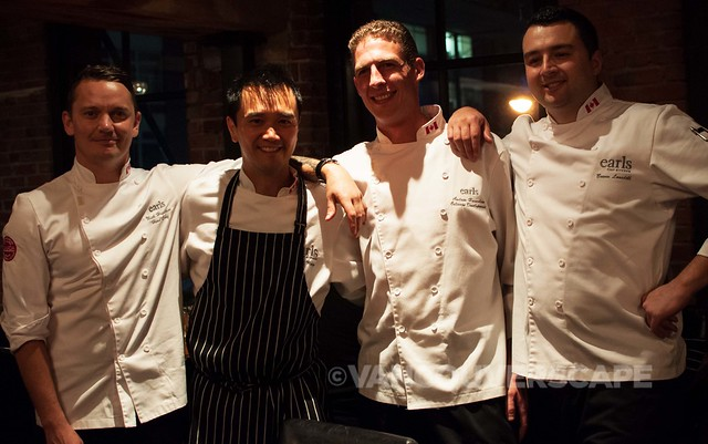Earl's Test Kitchen chefs Nick, David Wong, Andrew Hounlsow, Bowen Lansdell