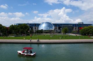 Parc de la Villette - Canal de l'Ourcq, la Géode et la Cité des Sciences