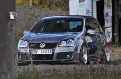 volkswagen r32(0.0), sedan(0.0), automobile(1.0), automotive exterior(1.0), family car(1.0), wheel(1.0), volkswagen(1.0), vehicle(1.0), automotive design(1.0), volkswagen gti(1.0), volkswagen golf mk5(1.0), city car(1.0), compact car(1.0), bumper(1.0), land vehicle(1.0), volkswagen golf(1.0),