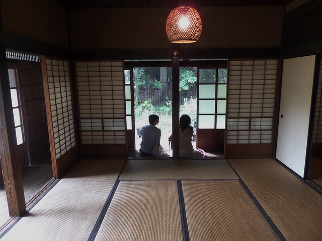 View out from inside the Farmhouse of the Yoshino Family