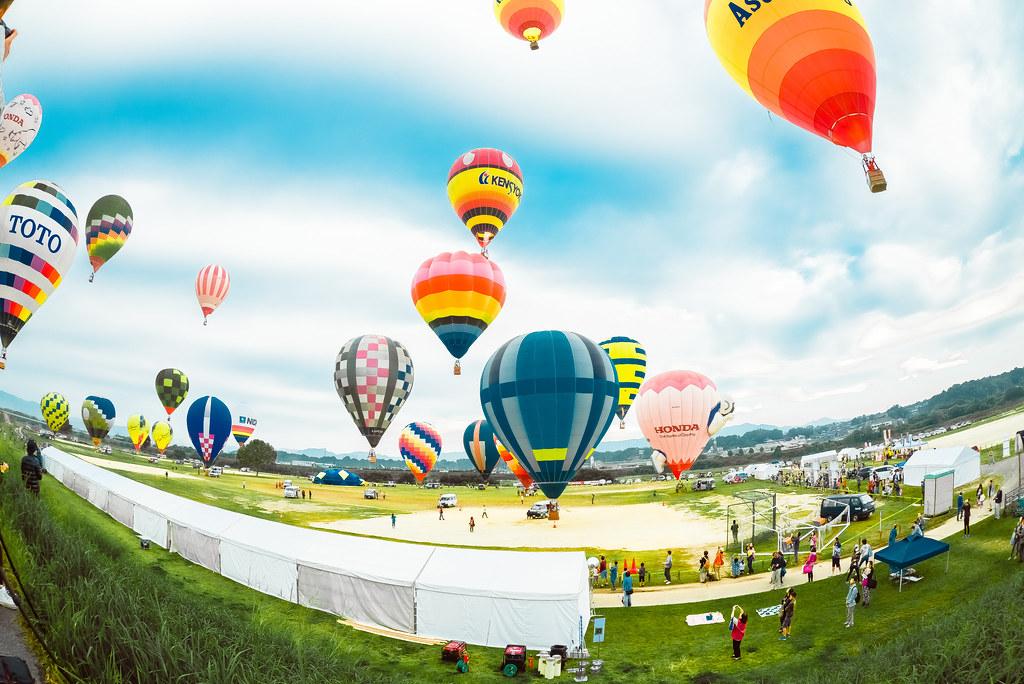 鈴鹿バルーンフェスティバルの気球たち | D600 + SIGAM 15mm F2.8 EX DG DIAGONAL FISHEYE