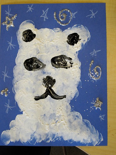 Polar Bear Printmaking