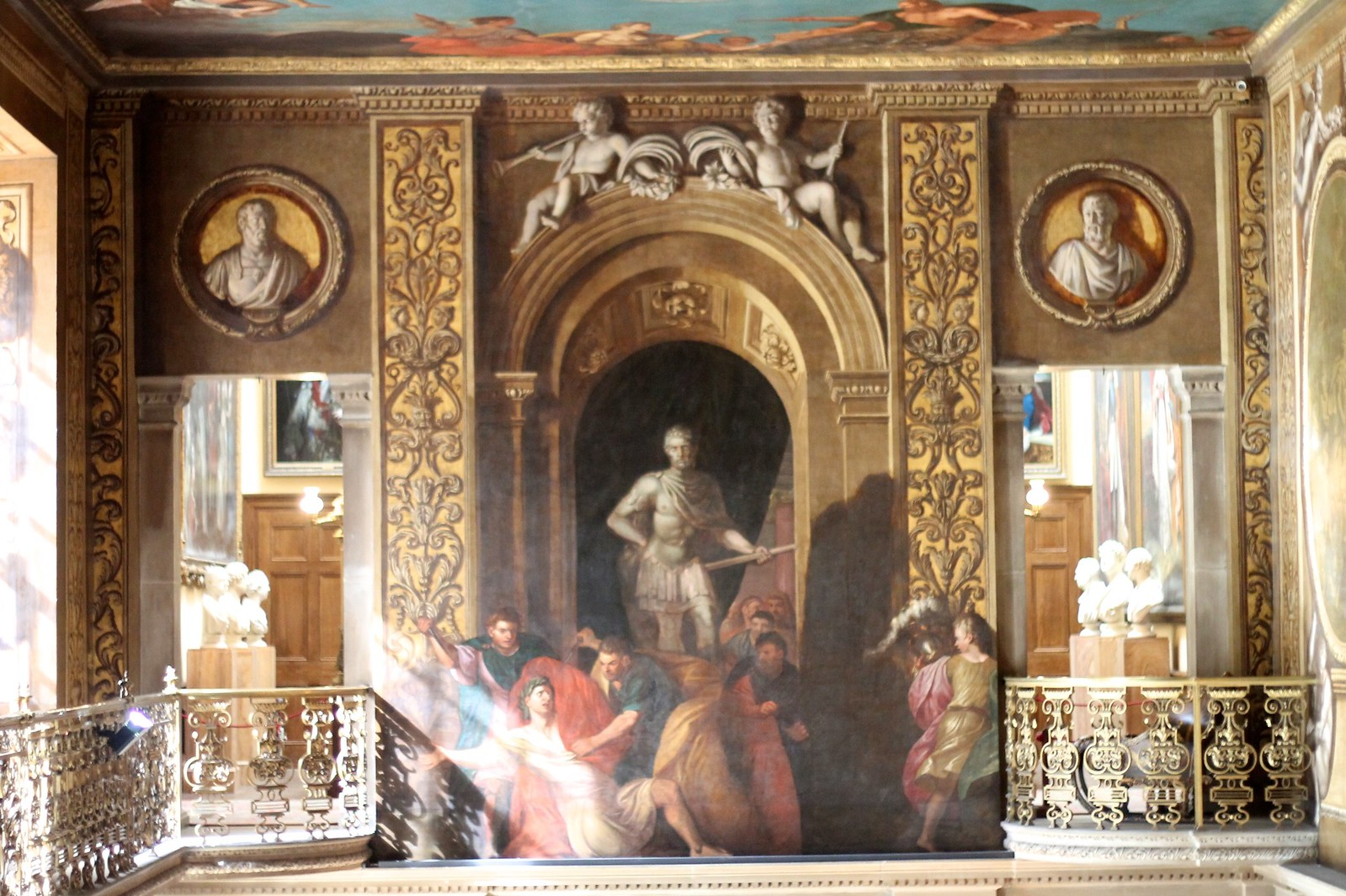 Chatsworth painted hall