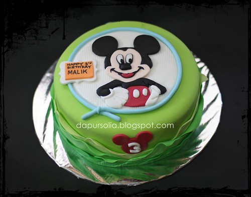 Lemon Cake MIckey Deco for Malik 3 y.o.