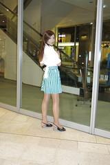 White shirt and Gingham miniskirt_3