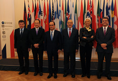 Meeting with French President Francois Hollande and the Heads of International Orginisations