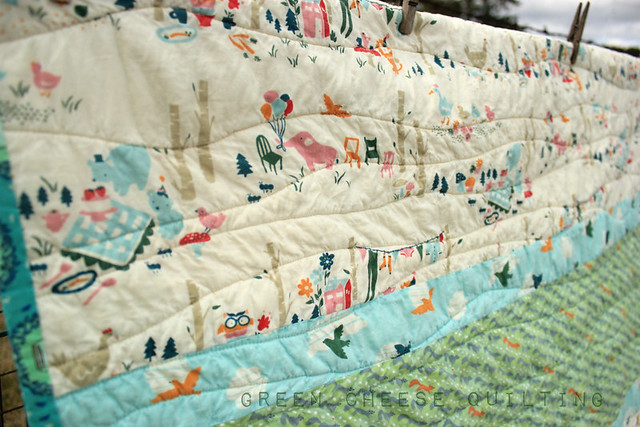 Green Cheese Quilting: Seaside Baby Quilt - Finished! : seaside quilt - Adamdwight.com
