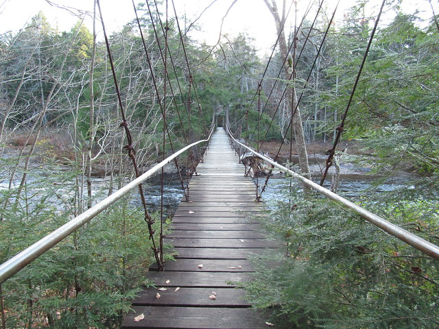 Whitehouse suspension bridge