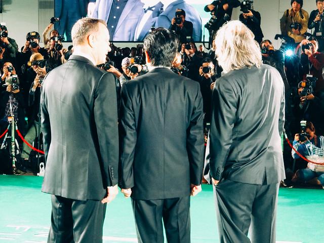 Photo:26th Tokyo International Film Festival: Paul Greengrass & Tom Hanks from Captain Phillips, Prime Minister Abe Shinzo By Dick Thomas Johnson