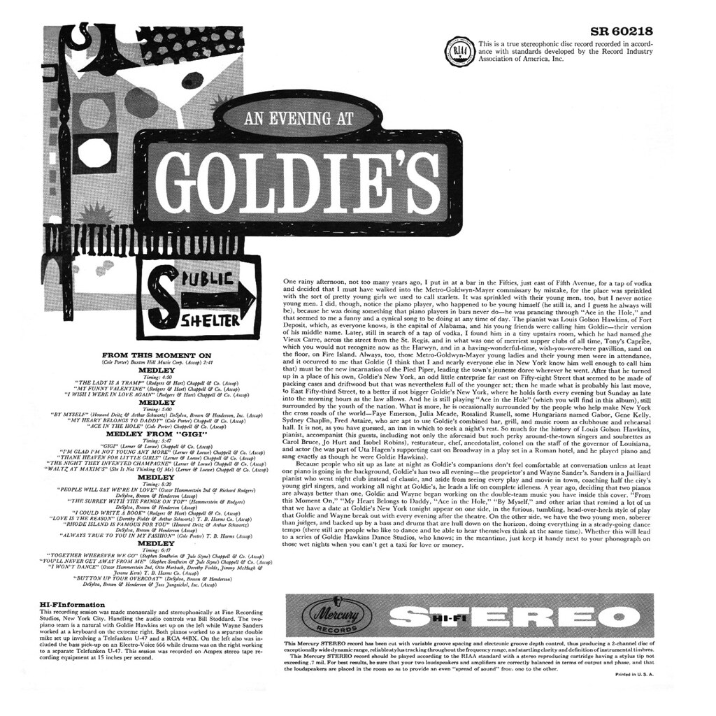 Goldie Hawkins ‎– An Evening At Goldies' New York