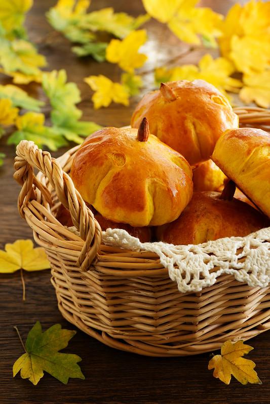 "Homemade muffin ""pumpkins"" pumpkin and peanuts."