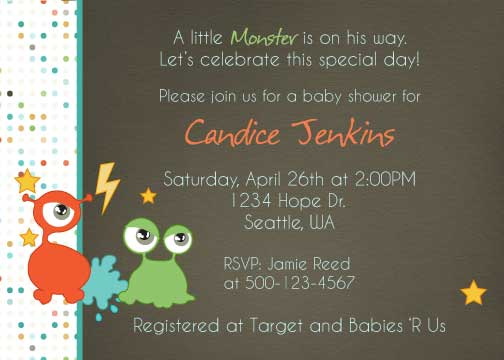Monster Baby Shower Invitation