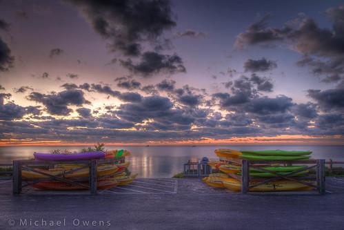 morning sky colors clouds sunrise keys bright florida kayaks bahiahonda