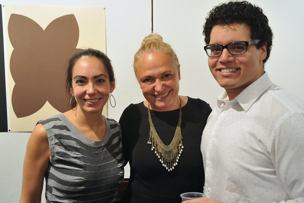 <p>Lilia Slavova (Board Member) with actors, Ariana Almajan and Marlowe Vilchez<br /> <br /> Photo By Val Radev</p>