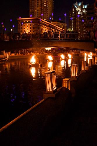 Providence WaterFire by Keith Bragg, via I {heart} Rhody