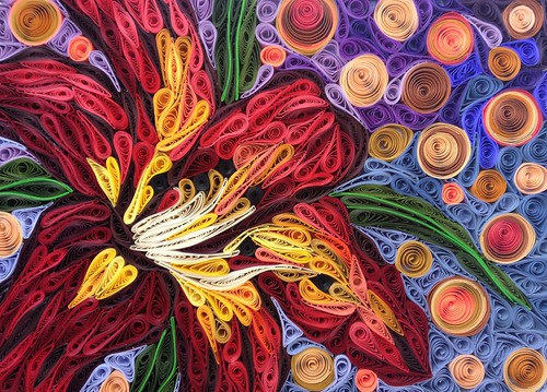 Quilled Flower Mosaic