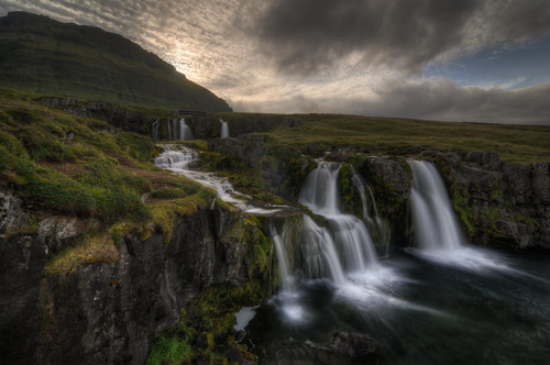 travel sunset vacation nature waterfall iceland nikon outdoor tokina cascade kirkjufell hdr circularpolarizer westfjords d300 photomatix 1116mm kirkjufellsfoss