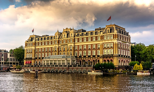 sky colors amsterdam architecture clouds reflections river hotel amstel amstelhotel